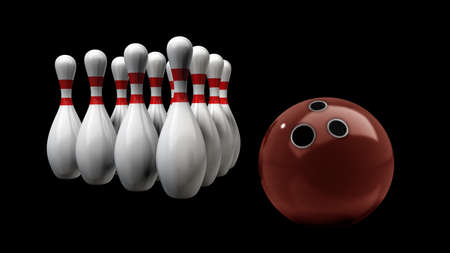 3d render of bowling isolated on black background. High resolution  photo