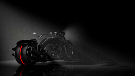 concept motorcycle (No trademark issues is my own design) sepia tone. High resolution 3D  photo