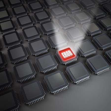 Many electronic Processor unit CPU. Electronic background. 3D Stock Photo - 18720716