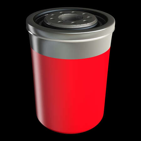 Car engine oil filter isolated on black background high resolution 3d illustration Stock Illustration - 18719997
