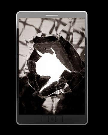 broken computer: PAD with broken Touchscreen High resolution