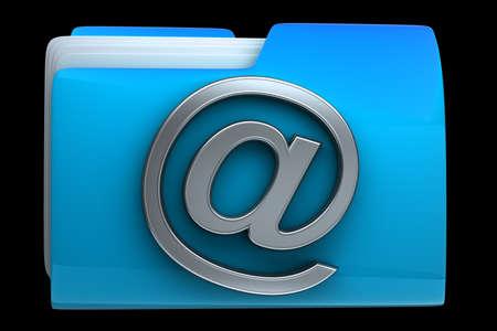 dir: Blue folder icon with symbol High resolution