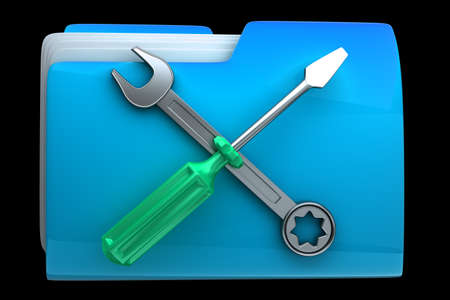dir: folder Screwdriver and Wrench icon High resolution 3D