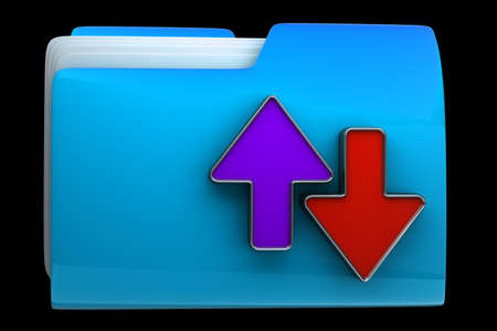 ftp: Date transferring concepts. folder icon High resolution 3D  Stock Photo