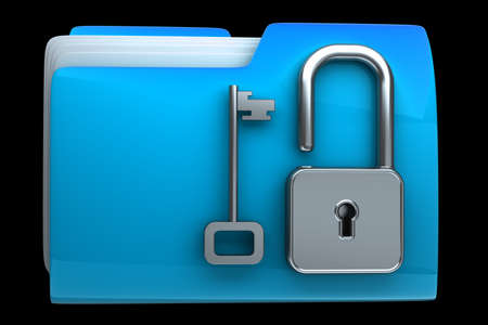 folder icon with security lock dial High resolution Stock Photo - 18772815