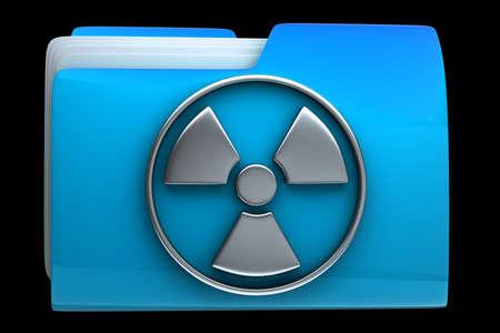 dir:  folder Radiation Alert sign icon High resolution 3D