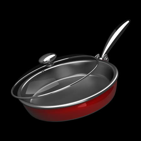 browning: Frying pan. High resolution. 3D image
