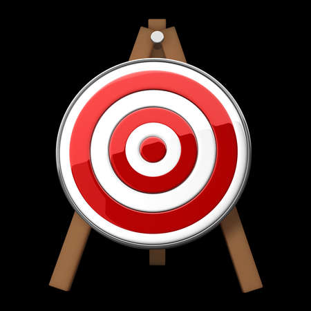 marksmanship: Target isolated on black background high resolution 3d illustration