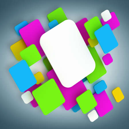 abstract background. Color smooth cubes. High resolution 3d render  photo