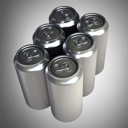 aluminum can: Aluminum cans High resolution 3D  Stock Photo