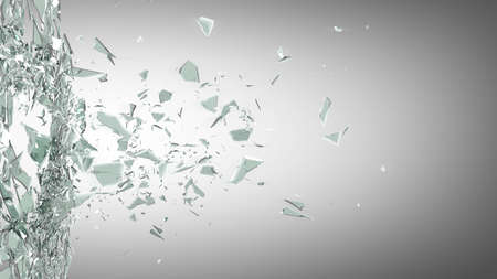 vidrio roto: Fondo de cristal roto. 3d de alta resoluci�n Foto de archivo