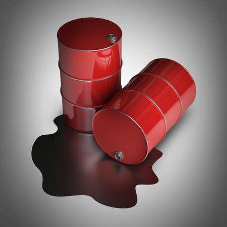 3D red FUEL barrels High resolution  photo
