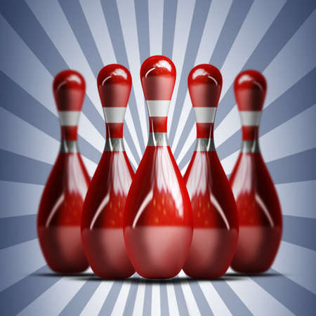 ten pin bowling: bowling. High resolution 3d render
