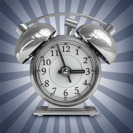 high resolution: Old-fashioned alarm clock. High resolution. 3D image  Stock Photo