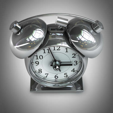 alarmclock: Old-fashioned alarm clock. High resolution. 3D image  Stock Photo