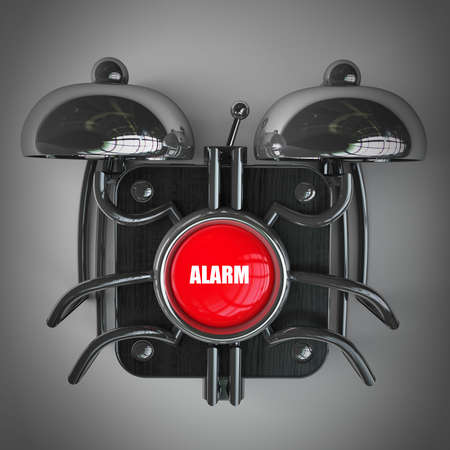 alarm bell. High resolution 3d render  photo