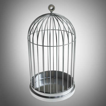 prison house: Bird cage High resolution 3d  Stock Photo