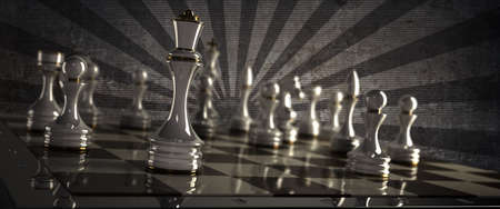 chessboard: Chess background - checkmate. High resolution 3D render  Stock Photo