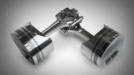 engine pistons: Engine pistons and cog  High resolution 3D render