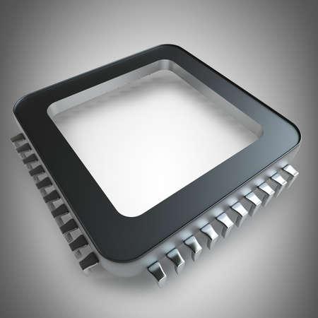 high resolution: Processor unit CPU concept  High resolution 3D