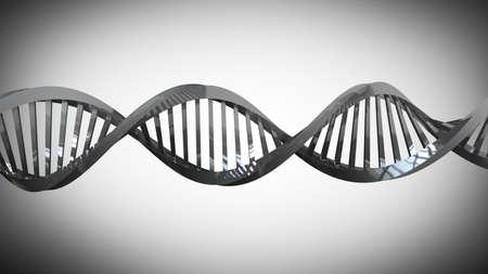 트위스트 크롬 금속 DNA 체인의 모델 고해상도 3d 렌더링