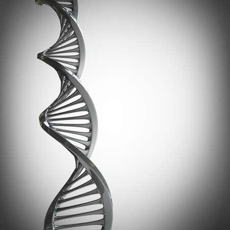 model van verwrongen chroom metalen ketting van DNA Hoge resolutie 3d render