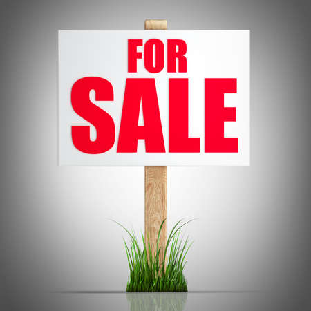 For sale sign  High resolution 3d render Stock Photo - 22252792