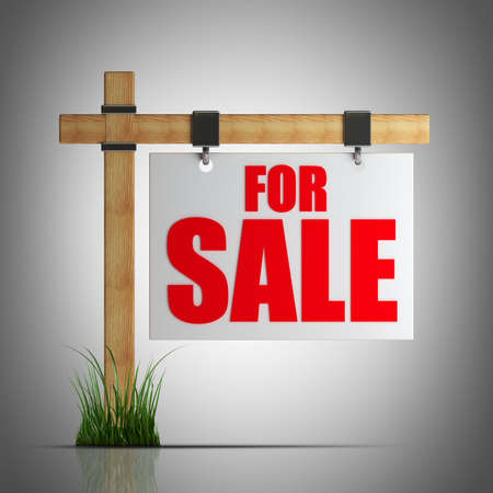 For sale sign  High resolution 3d render  Stock Photo - 22252793