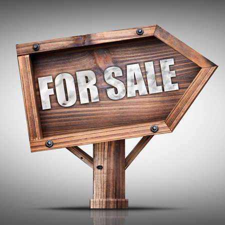 Wooden sign board for sale photo