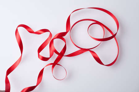 Red ribbon background  photo