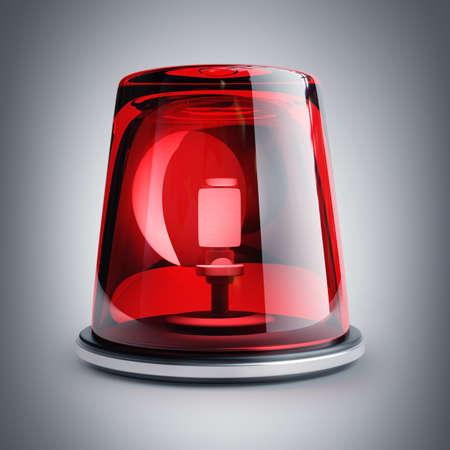 red siren: red siren. High resolution 3d render