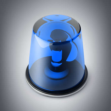 emergency light: Blue siren. High resolution 3d render  Stock Photo