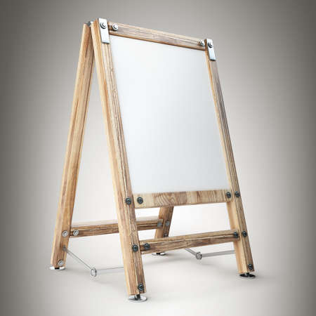 Blank Canvas on easel. high resolution 3d illustration illustration