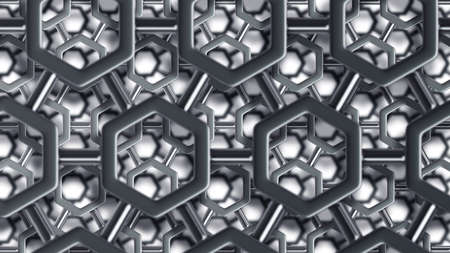 steel structure: simple steel molecular structure background 3D  high resolution