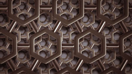 nuclei: simple steel molecular structure background 3D  high resolution