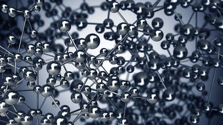 simple steel molecular structure background 3D  high resolution photo