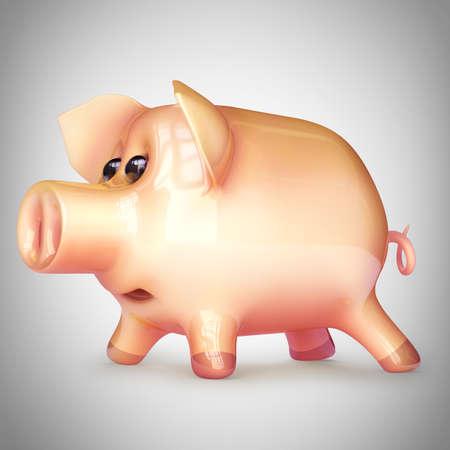 Pink piggy bank. High resolution 3d render Stock Photo - 22211958