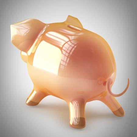 Pink piggy bank. High resolution 3d render Stock Photo - 22211963