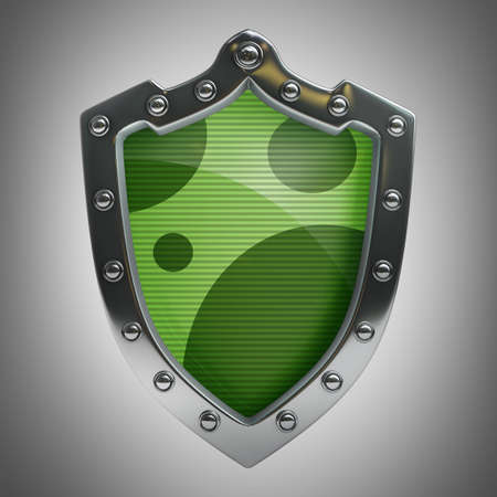 antivirus: Shield depicting protection High resolution 3D  Stock Photo