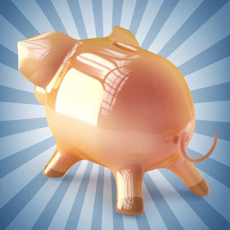 accountig: Pink piggy bank. High resolution 3d render