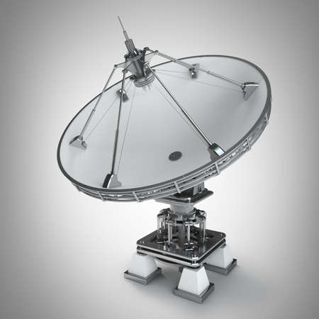 Satellite dishes antenna - Doppler radar High resolution 3D image  photo