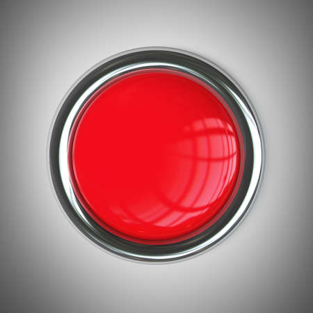 resolution: red button. High resolution 3d render  Stock Photo