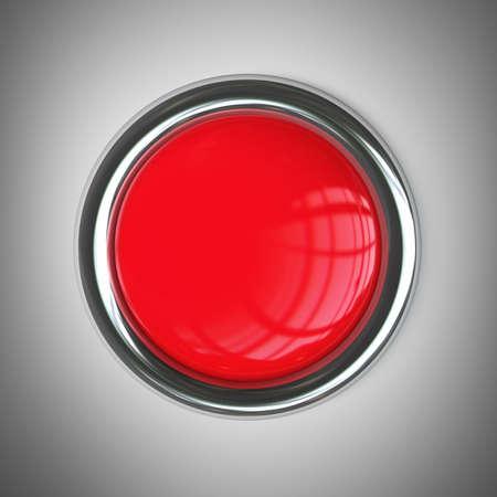 rode knop. Hoge resolutie 3d render