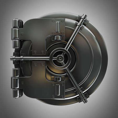 3d illustration of bank vault door High resolution  illustration