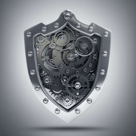 Shield depicting protection High resolution 3D  Stock Photo