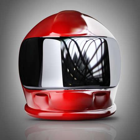 casco moto: Red casco moto. 3d de alta resolución Foto de archivo
