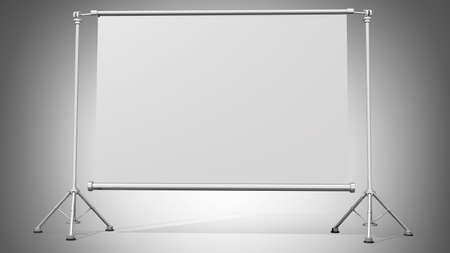 slideshow: Blank projection screen with tripod High resolution 3d render
