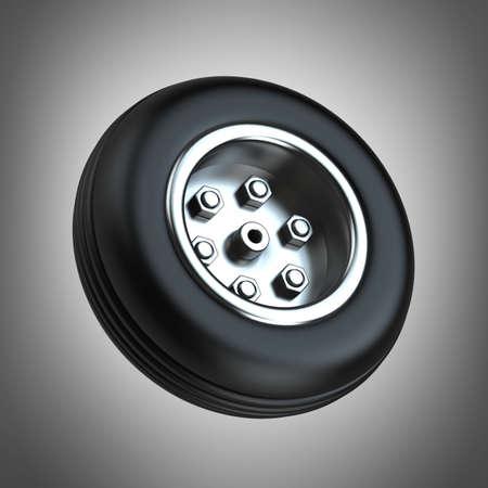 radial tire: Wheel. High resolution 3d render