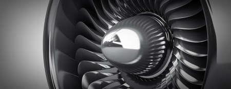 aluminum airplane: Jet engine background. High resolution. 3D image  Stock Photo