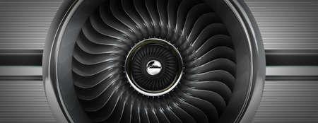 titanium: Jet engines front view. High resolution. 3D image
